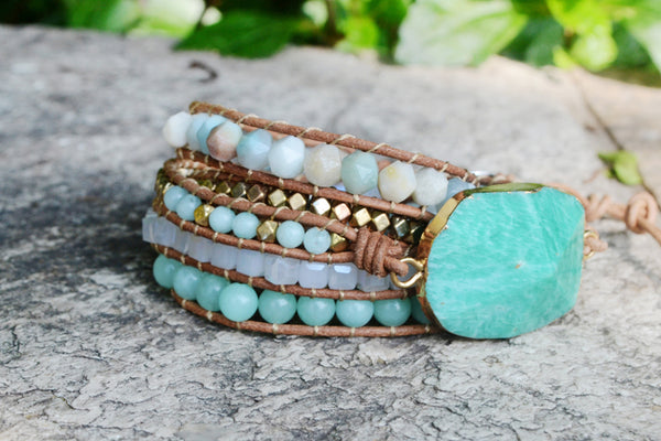 Handmade Natural Amazonite Bracelet