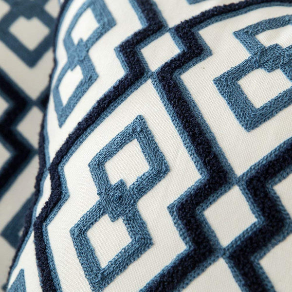 Hand Woven Classic Touch of Navy Cushion Covers