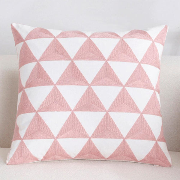 Shades of Pink - Embroidery Cushion Cover 18x18 in