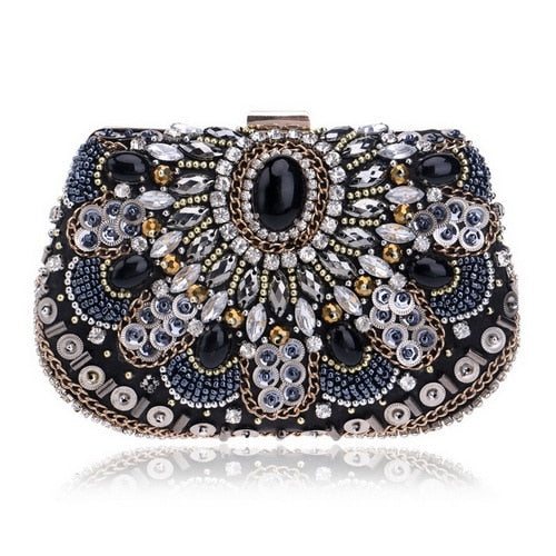 Rhinestone Diamond Clutch