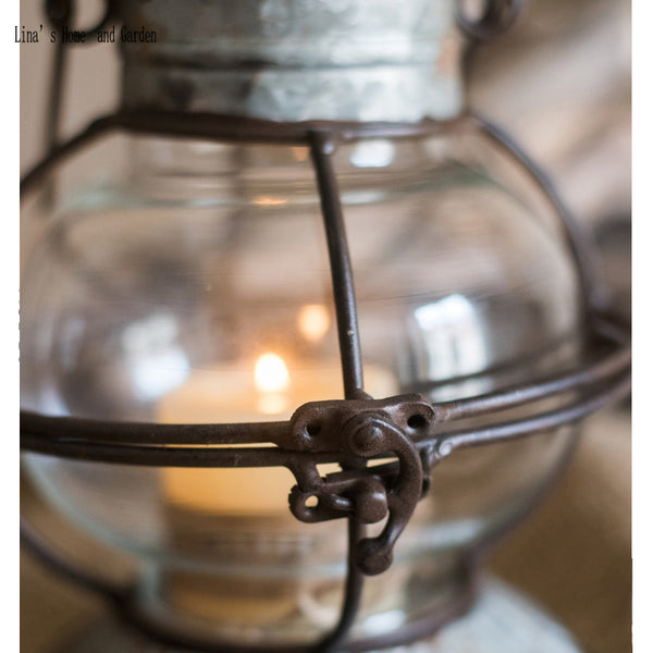 Metal Glass Antique Lantern