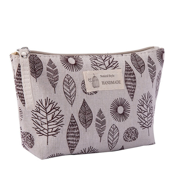 Handmade Women Travel Canvas Cosmetic Bag