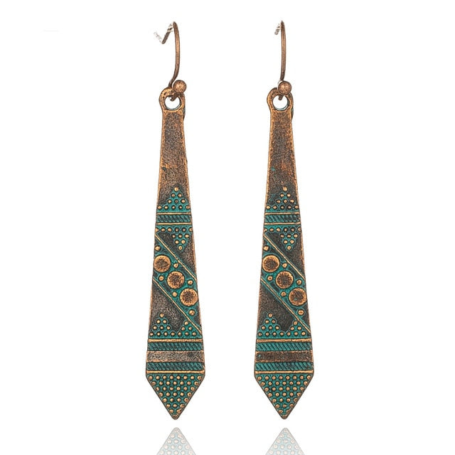 Ethnic Indian Inspired Dangle Earrings