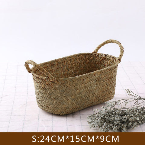 Handwoven Eco-friendly Seagrass Bread Basket