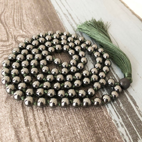 Natural Hematite Necklace & 108 Beads Japa Mala
