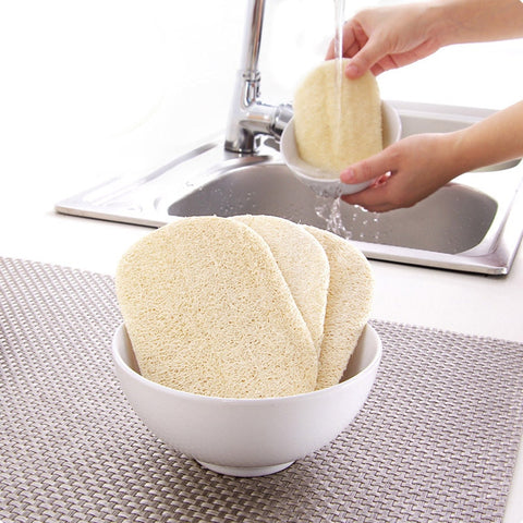 15pcs Natural Loofah Dishwashing Scrub Pad