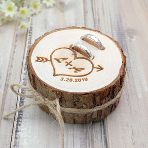 Personalized Rustic Wood Ring Holder