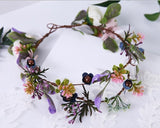 Flower Wreath Crown Semicircle or Round