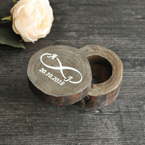 Custom Engraved Wooden Ring Boxes