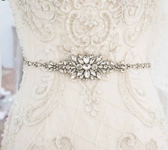 Crystal Silver Bridal Belt