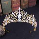 Luxury Rhinestone Bridal Tiara 10 colors