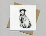"""Backjack"" Terrier Fine art card"