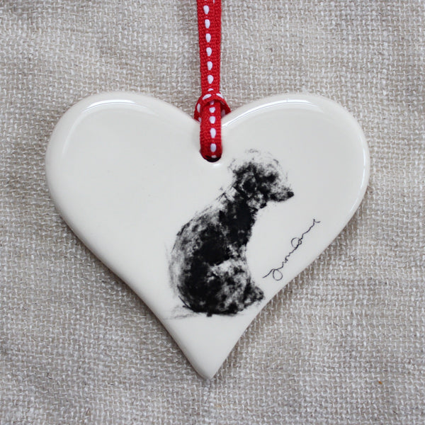 Bedlington Terrier Heart