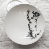 Begging Terrier- Large Bowl