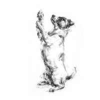 Begging Terrier Sketch Print
