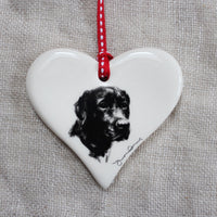 Black Labrador Heart
