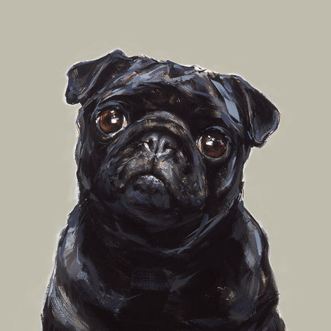 10. Black Pug Limited Edition Print