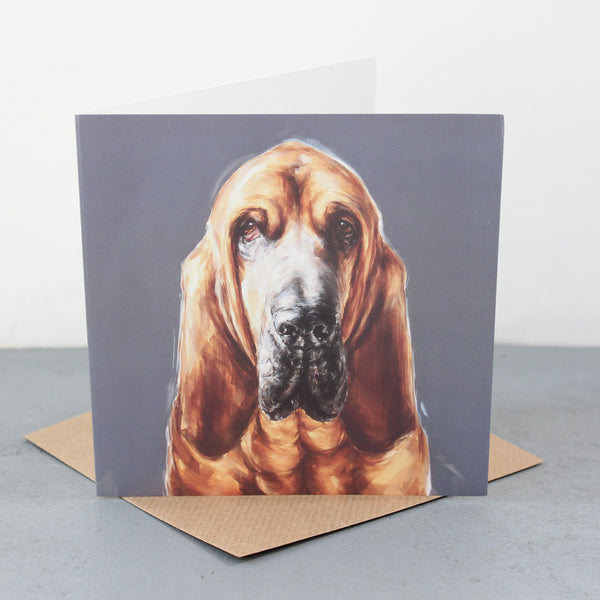Bloodhound greetings card