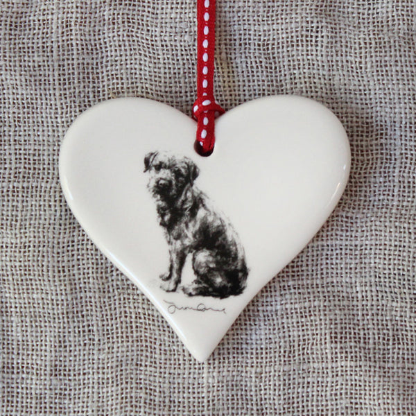 Border Terrier Heart