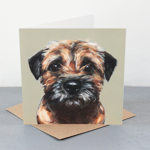 Border Terrier Fine art card