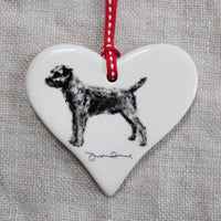 Border Terrier standing Heart