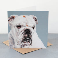 Bulldog Fine art card
