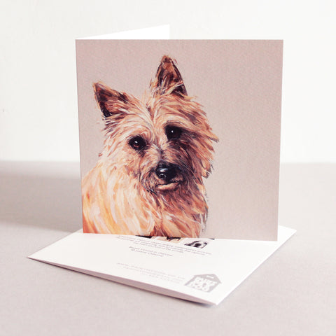 Cairn Terrier Fine art card