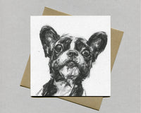 Cheeky Frenchie Fine art card