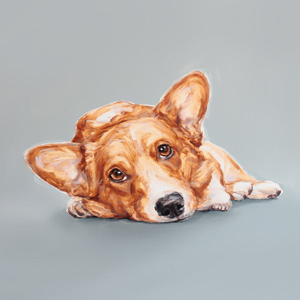 Corgi Limited Edition Print