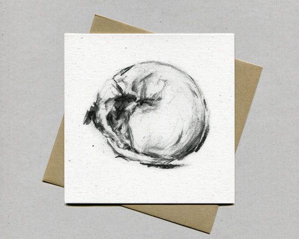 """Curled up"" Terrier Fine art card"