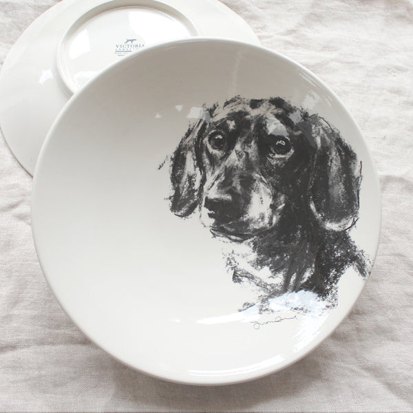 Dachshund portrait - Large Bowl
