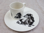 Dachshund mug and plate