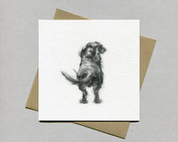 Dachshund Wagging Fine art card