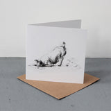 """Digger"" Terrier Fine art card"