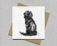 Ever ready Spaniel Fine art card