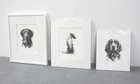 Sitting Cocker Spaniel Sketch Print