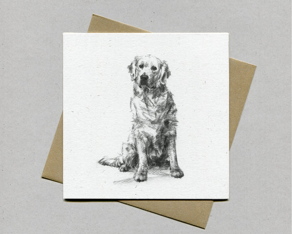 Golden Retriever Fine art card