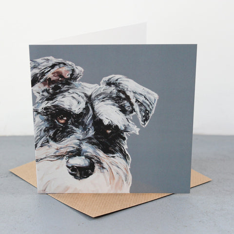 Grey Schnauzer Fine art card