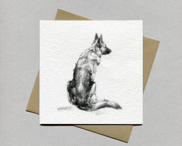German Shepherd Fine art card