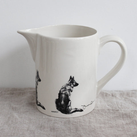 German Shepherd  Jug