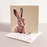 Hare fine art card