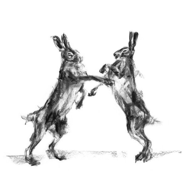 """The Match"" Hares Sketch Print"