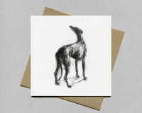 Hope Greyhound Fine art card