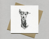 Italian Greyhound Fine art card