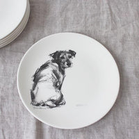 Side plates - charcoal sketches