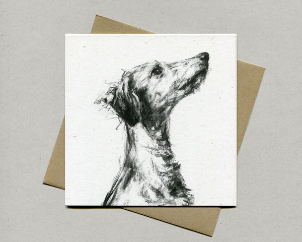 Listener Lurcher Fine art card