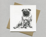 Lolling Pug Fine art card