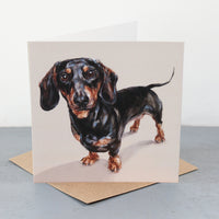 Dachshund Fine art card