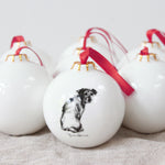 Looking Back Terrier Christmas Bauble