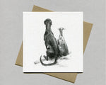 Sitting Lurchers Fine art card